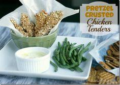 Chicken Recipes : Pretzel Crusted Chicken Tenders