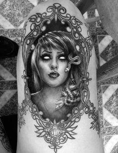 Creepy tattoo. #tattoo #tattoos #ink