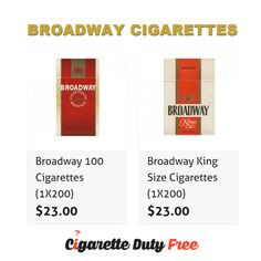 Find out the collection of Broadway Cigarettes at http://www.cigarettedutyfree.com/english/cigarettes-usa/broadway.html.