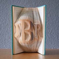 Custom Gift for the Couple - Monogram Gift - Folded Book Art - Paper Anniversary- Book Lover- Home Decor- Initials
