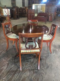e12708b56a93e Vintage Mid Century Travis Court By Drexel Oval Dining Room Table and Chairs  Set