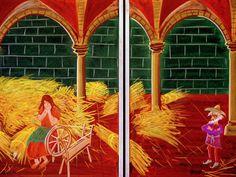 Waldorf ~ 1st grade ~ Fairy Tales ~ Rumpelstiltskin ~ chalkboard drawing