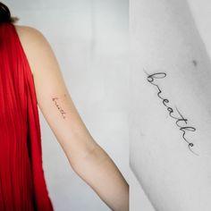 Just Breathe Tattoo 46 Form Tattoo, Et Tattoo, Shape Tattoo, Tattoo Quotes, Dainty Tattoos, Subtle Tattoos, Unique Tattoos, Small Tattoos, Tatuaje Just Breathe