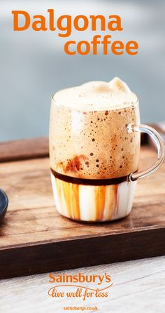 #dalgona #whippedcoffee #coldcoffee #sainsburysrecipes Coffee Milk, Sainsburys, Beverages, Drinks, 4 Ingredients, Yummy Treats, Smoothies, Nom Nom, Sweet Tooth
