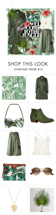 """Welcome to the Jungle"" by ylvaluna ❤ liked on Polyvore featuring Tempaper, Kenzo, Seafolly, Marc Jacobs, River Island, Tommy Bahama, Crown & Ivy, Pier 1 Imports, LaMont and Colibri"