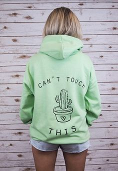 """CAN'T TOUCH THIS"" CACTUS HOODY"