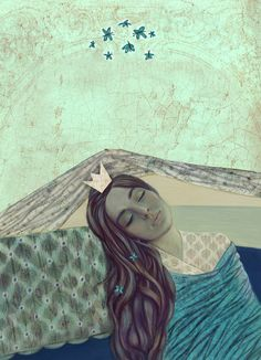 """Sansa """"She dreamed of paradise, every time she closed her eyes. Line Drawing, Painting & Drawing, Eclectic Artwork, Am I Dreaming, Heart With Wings, Arts Ed, Illustration Art, Book Illustrations, Whimsical"""