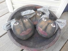 Lovely Valentine Bowl Filler Design Ideas for Bowl Fillers Ideas Pier One Valentine Primitive Bowl Fillers Fall Bowl Fillers Sweet DIY Valentine Bowl Filler With Traditional Clay Bowl Feat Women Face Shape Clay Ornies And Damask Pattern Bandana Combine Na ✿
