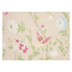 Laura Ashley Summer Palace Linen Wallpaper 10m - inspiration point a touch of bright colour to bring barbie in