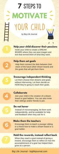 Try these 7 effective ways (based on science) to motivate your child and get them excited about creating and following their dreams.