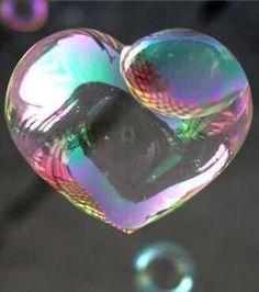 Heart bubble.