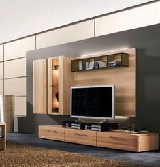 Wooden entertainment center from wall modern tv unit units for sale enterta . wall unit for inch entertainment center tv Modern Entertainment Center, Entertainment Wall Units, Tv Unit Design, Tv Wall Design, Folding Patio Doors, Ruang Tv, Modern Wall Units, Muebles Living, Tv Furniture