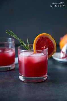 Blood Orange Rosemary Cocktail | Sweet-Remedy.com #cocktail #drink #recipe