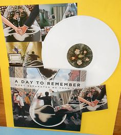 A DAY TO REMEMBER what separates me from you Lp Record WHITE Vinyl w/ lyrics
