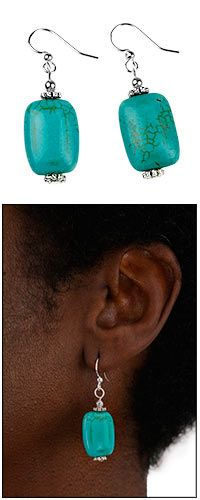 Handmade Turquoise Earrings at The Animal Rescue Site