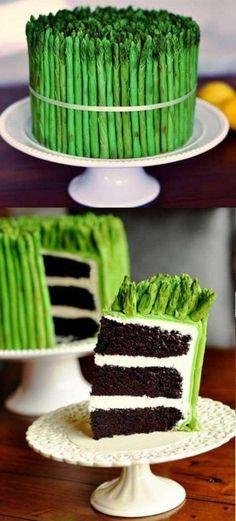 Asparagus cake.