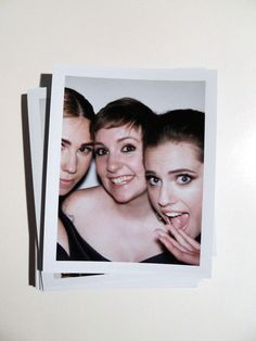Zosia Mamet, Lena Dunham, and Allison Williams, 35 Candid Polaroids From the Golden Globes via Vulture