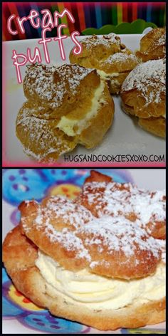 MOM'S FAMOUS CREAM PUFFS!   Hugs and Cookies XOXO