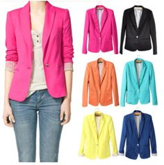 NEW! Women's Blazer in 7 COLORS