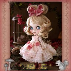 Custom Blythe Dolls: Milk Tea Custom Blythe Acorn & Squirrel - A Rinkya Blog