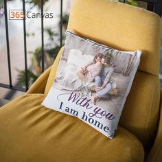 With you, I am home pillow allows you to upload a romantic picture of the partner on it. The picture uploaded has sharp colors and makes the pillow quite attractive. It is a great gift for your partner to tell them how much you appreciate their presence in your life. #anniversarygifts#anniversaryideas#couples#giftsforcouple