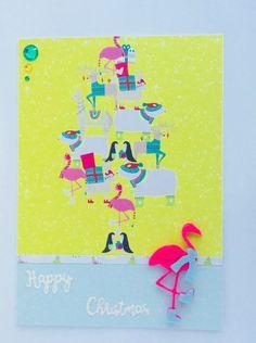 Handmade Christmas Flamingo Card, Christmas Card, Blank Card, Lama, Stag, Polar    eBay Luxury Christmas Cards, Handmade Christmas, Christmas Flamingo, Blank Cards, Stationery, Diy, Stationeries, Do It Yourself, Papercraft