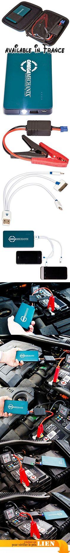 Omega Mechanix IJS6000D Bloc d'Alimentation pour Démarrage de Secours - EU Plug. Batterie externe, banque d'alimentation portable pour voitures et appareils mobiles #Automotive Parts and Accessories #AUTO_PART
