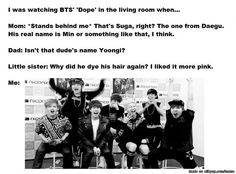 When you obsess so much that your family knows random facts | allkpop Meme Center