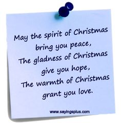 Christmas sayings for cards and such...