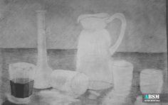 Martwa natura na zajęciach plastycznych dla dzieci i młodzieży. Kurs rysunku ABSM