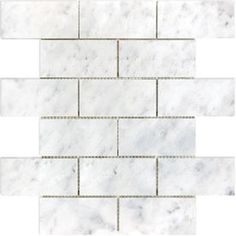 allen + roth Venatino Polished Mosaic Natural Stone Marble Wall Tile (Common: 12-in x 12-in; Actual: 10-in x 12-in)