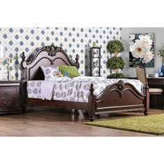 Shop for Furniture of America Bastillina English Style Cherry Four Post Bed. Get free shipping at Overstock.com - Your Online Furniture Outlet Store! Get 5% in rewards with Club O!