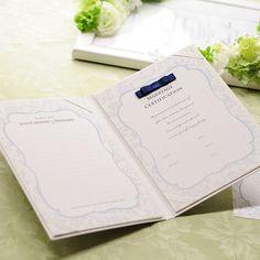 結婚証明書(ゲスト参加型)「フェリスタ ネイビー」 http://www.farbeco.jp/marriage-certificate.html