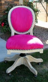 Office Chair What A Princess In Lighter Pink Or Pale Yellow