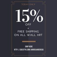 15% Off + #FreeShipping on All #WallArt Ends: Monday, 1/9 @ 11:59pm PT #ArtGalleryOnline: http://society6.com/andreaanderegg #artcollector #decor #interiordesign #fineart