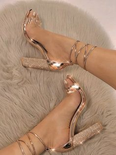 Ankle Strap Heels – Allure LaneYou can find Prom heels and more on our website. Strappy Shoes, Ankle Strap Heels, Satin Shoes, Heeled Sandals, Sandals Outfit, Ankle Straps, Sandal Heels, High Heels Outfit, Fancy Shoes