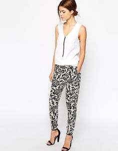 Warehouse Jungle Print Trousers