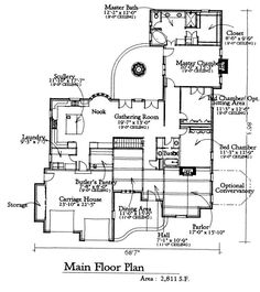 Cloverly: Floor Plan. Add extra toilet and more closet space to master bath, another bathroom or at least 1/2 bath for guests. I love that it's only 1 story.  2811sf. 3bed, only 2 bath.