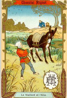 fable : le vieillard et l'âne
