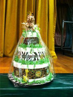 Jungle theme diaper cake by me Mari Veloz