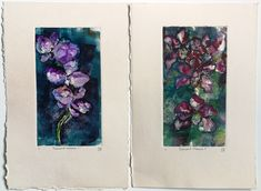Orchid Monotypes #printmaking #monotype #monoprint #prints #orchids #flowers #beautiful #printmaker #flowerprints