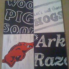 4 piece canvas for the Razorback room:)!