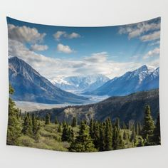Mountain Landscape # sky Wall Tapestry by Follow Me Away. Worldwide shipping available at Society6.com. Just one of millions of high quality products available.