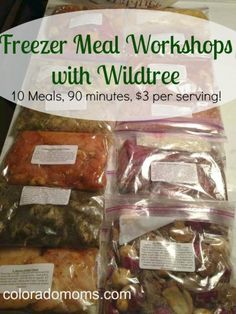 Freezer Meal Workshops with Wildtree: 10 meals, 90 minutes, $3 per serving!