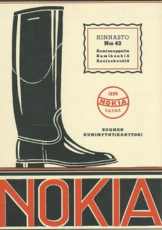 Nokia in the old days. Vintage Advertisements, Vintage Ads, Vintage Posters, Finland Travel, Camping Gifts, The Old Days, Travel Posters, Road Trip, Old Things