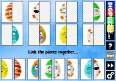 Easter Eggs Link Puzzle | Digipuzzle.net Easter Games, Easter Eggs, Puzzles, Advent Calendar, Holiday Decor, Link, Puzzle, Advent Calenders