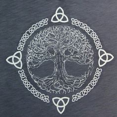 First of all, I should explain what this is. This is the Celtic Tree of Life. It symbolizes balance and harmony. I love the element of lines this design uses. The Celtic knots and branches in tree create a flow. Also, this design shows the element of time Symbol Tattoos, Celtic Tattoos, Viking Tattoos, Body Art Tattoos, Celtic Tattoo Symbols, Irish Celtic Symbols, Celtic Tattoo For Women, Tatoos, Celtic Knot Tattoo