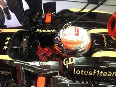 Romain Grosjean in the cockpit - 2013 Spanish GP FP3