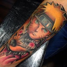 Naruto tattoo done by @enriklefrik by gamer.ink