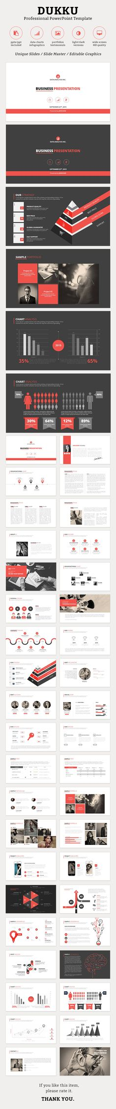 Dukku PowerPoint Template #design #slides Download: http://graphicriver.net/item/dukku-powerpoint-template/13057919?ref=ksioks